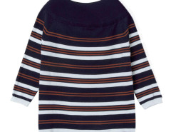 Blue Stripe Boat Neck 3/4 Sleeve Sweater Choies.com online fashion store United Kingdom Europe