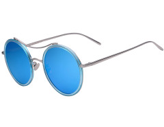 Blue Transparent Frame Round Mirror Sunglasses Choies.com online fashion store United Kingdom Europe