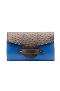 Bond Street Imitation Shagreen and Ostrich Leather Clutch Carnet de Mode online fashion store Europe France