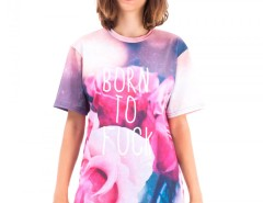 Born to f**k Printed Polyester T Shirt Carnet de Mode online fashion store Europe France