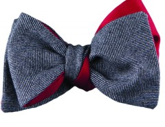 Bow tie - Chevron - grey Carnet de Mode online fashion store Europe France