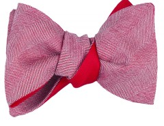 Bow tie - Chevron - red Carnet de Mode online fashion store Europe France