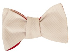 Bow tie - honeycomb - White Carnet de Mode online fashion store Europe France