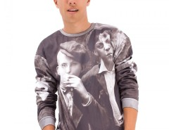 Boys Printed Black Polyester Sweatshirt Carnet de Mode online fashion store Europe France