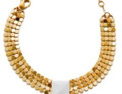 Bracelet - Melli - gold & white Carnet de Mode online fashion store Europe France