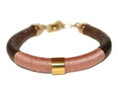 Bracelet in Leather and Cotton Thread - NOLITA Carnet de Mode online fashion store Europe France