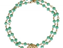 Bracelet with Gold Rose Window Charm and Turquoise Pearls Noah Carnet de Mode online fashion store Europe France