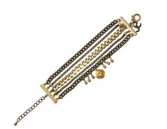 Brass Bracelet with Charms and Medals LOUXOR JCB02 Carnet de Mode online fashion store Europe France