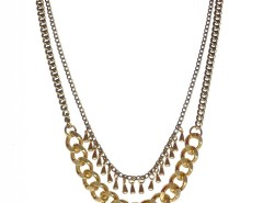 Bronze and Brass Necklace with Heart Charm JCH22 Carnet de Mode online fashion store Europe France