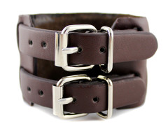 Brown Buckle Strap Leather Bracelet Pack Choies.com online fashion store United Kingdom Europe