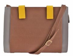 Brown Leather Shoulder Bag Carnet de Mode online fashion store Europe France