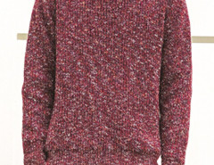 Burgundy Mixed Yarns Knitted Jumper Choies.com online fashion store United Kingdom Europe
