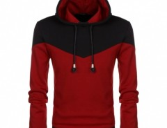 COOFANDY Fashion Men Casual Long Sleeve Hooded Sweatershirt Patchwork Splicing Leisure Thick Pullover Hoodies Cndirect online fashion store China