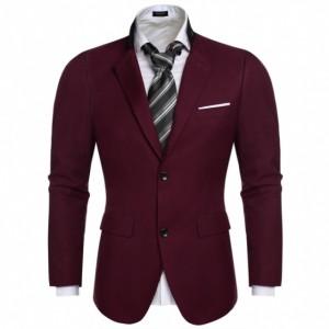 COOFANDY Fashion Men's Slim Blazer Coat Suit Jacket Two Button Coats Outwear Cndirect online fashion store China