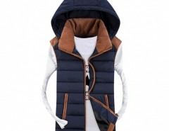 COOFANDY Men Hooded Sleeveless Thick Zipper Closure Outwear Down Coat Casual Vest Cndirect online fashion store China