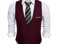 COOFANDY Men's Top Designed Business Slim Fit Skinny Vest Waistcoat Cndirect online fashion store China