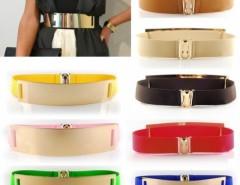 Celebrity Style Women Metal Elastic Mirror face Waist Wide Belt Cndirect online fashion store China