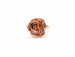 Charlotte Rose Ring. Yellow or Rose Gold. MrKate.com online fashion store USA
