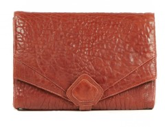 Clutch - CREAMY - Red Bubble Leather Carnet de Mode online fashion store Europe France