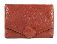 Clutch - CREAMY - Red Bubble Leather Carnet de Mode online fashion store Europe France