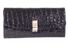 Clutch - croco leather - black/metallic bronze Carnet de Mode online fashion store Europe France