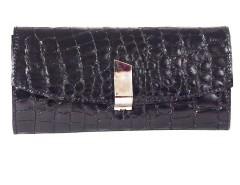 Clutch - cuir croco - black/metallic red Carnet de Mode online fashion store Europe France