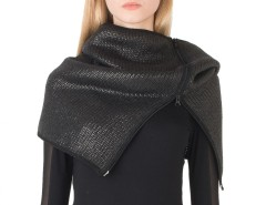 Coated Wool Black Snood Carnet de Mode online fashion store Europe France