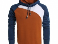 Coofandy Men's Warm Contrast Color Hooded Slim Pullover Hoodies Cndirect online fashion store China