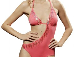 Coral Fringed Trikini 5324 Carnet de Mode online fashion store Europe France