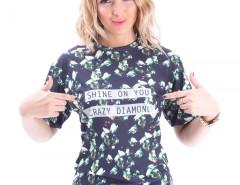 Crazy Diamond Printed Polyester Tshirt Carnet de Mode online fashion store Europe France