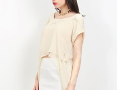 Cream Polyester Top Rippl Carnet de Mode online fashion store Europe France