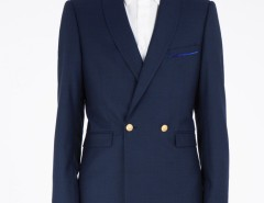 Crossed jacket - Navy blue Carnet de Mode online fashion store Europe France