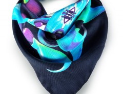 D'vine Emerald Printed Silk Square Scarf Carnet de Mode online fashion store Europe France