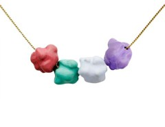 Enamel Multicoloured Pendant - The Fancy Popcorn Carnet de Mode online fashion store Europe France