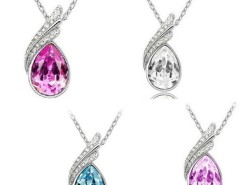 Fashion 18K GP crystal necklace pendant options 4colour New Arrival Cndirect online fashion store China