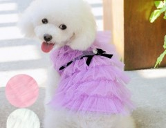 Fashion Cute Pet Dog Clothes Costume Layered Apparel Princess Dress Skirt 3 colors Cndirect online fashion store China