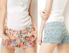 Fashion Lady's Floral Printing Casual Jeans Short Trousers Pants Hot Shorts 4Colors Cndirect online fashion store China