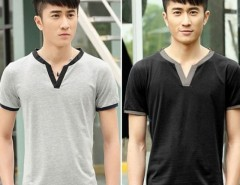 Fashion Men Casual V-Neck Short Sleeve Tops Sports Leisure Loose T-shirt Cndirect online fashion store China