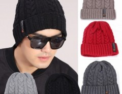 Fashion Men Cool Korean Men's Classic Winter Warm Knit Hat Outdoor Head Cap Sleeve Beanies Cndirect online fashion store China