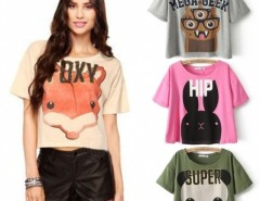 Fashion New Summer Hot Tee & Tops For Women Casual Loose T-Shirt Cute Animal Print Pullovers Cndirect online fashion store China
