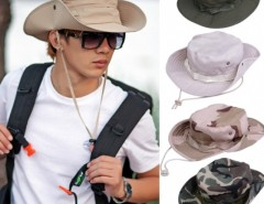 Fashion Sun Hats for Men Outdoor Fishing Hiking Boonie Snap Brim Military Bucket Sun Hats Cap Woodland Camo Cndirect online fashion store China