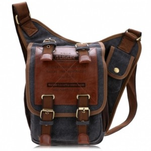 Fast Free Delivery in US Fashion Men Canvas Synthetic Leather Shoulder Bag Messenger Sling School Bags Cndirect online fashion store China