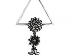 Flower Silver Clip Carnet de Mode online fashion store Europe France