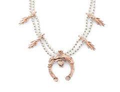 Goddess Necklace. Mixed Metals. Various Colors. MrKate.com online fashion store USA