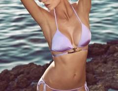 Gold Accessorized Lavender Bikini - Verina Carnet de Mode online fashion store Europe France