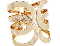 Golden Cut Out Open Cuff Bracelet Choies.com online fashion store United Kingdom Europe