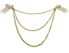 Golden Jewel Cluster Comb Detail Hair Drape Choies.com online fashion store United Kingdom Europe