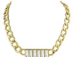 Golden Rhinestone Embellished Chunky Necklace Choies.com online fashion store United Kingdom Europe