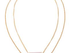 Golden Semi Precious Bar Multirow Chain Necklace Choies.com online fashion store United Kingdom Europe