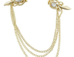 Golden Stone Nest Shaped Detail Hair Drape Choies.com online fashion store United Kingdom Europe
